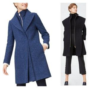 CLUB MONACO Kasppere Wool Coat Sz XS Blue